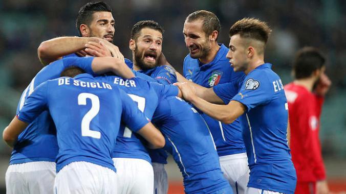 Azerbaijan Italy Euro Soccer